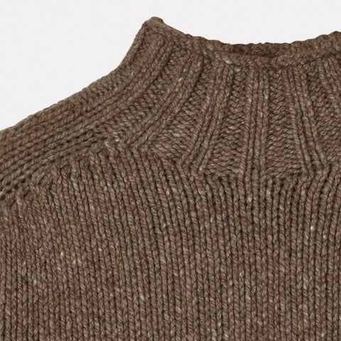 Mens Cashmere and Merino Knit Turtleneck in Oat