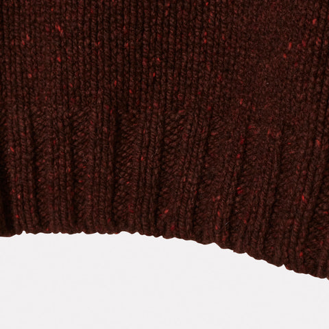 Ladies Cashmere and Merino Turtleneck in Currant