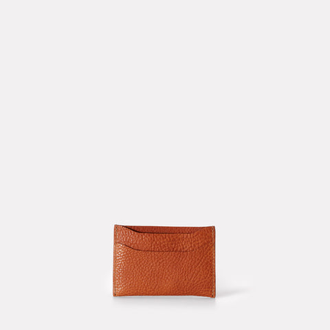 Pete Leather Card Holder in Tan