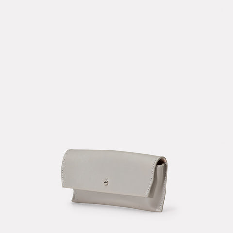 Kit Leather Glasses Case in Light Grey