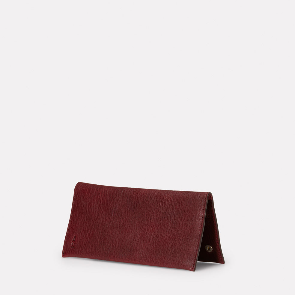 Evie Long Leather Wallet in Plum
