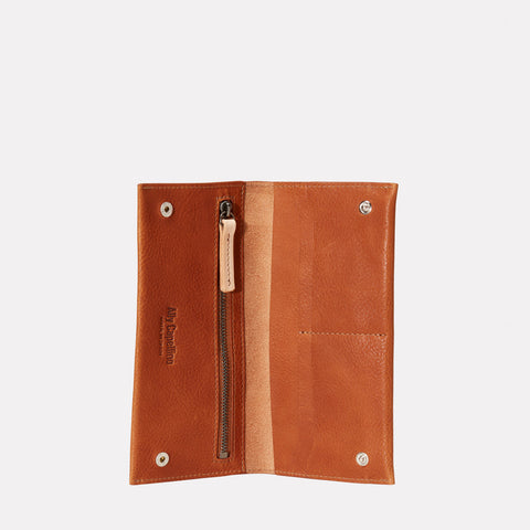 Evie Long Leather Wallet in Tan