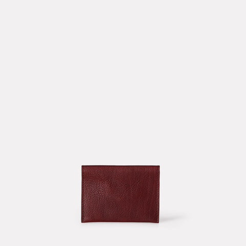 Fletcher Leather Card Holder in Plum