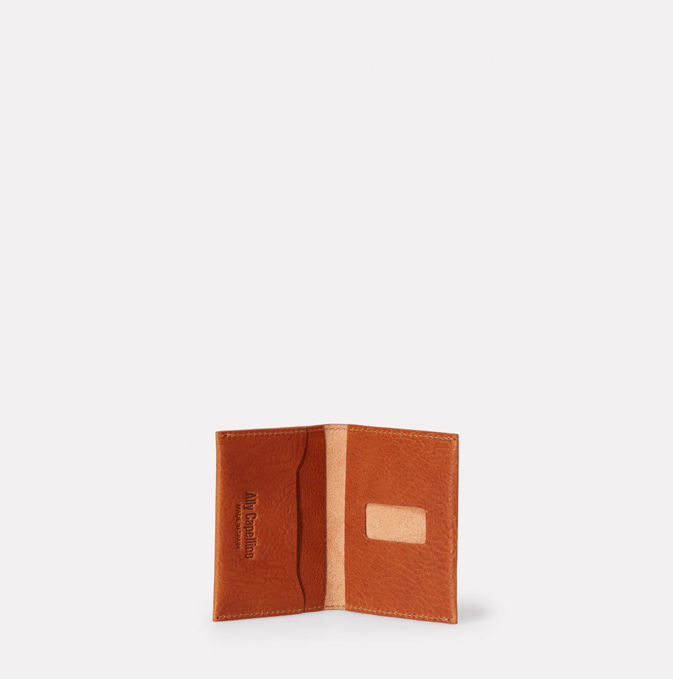 Fletcher Leather Card Holder in Tan