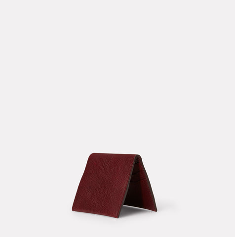 Oliver Leather Wallet in Plum