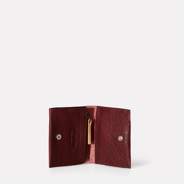 Riley Leather Coin Card Purse in Plum