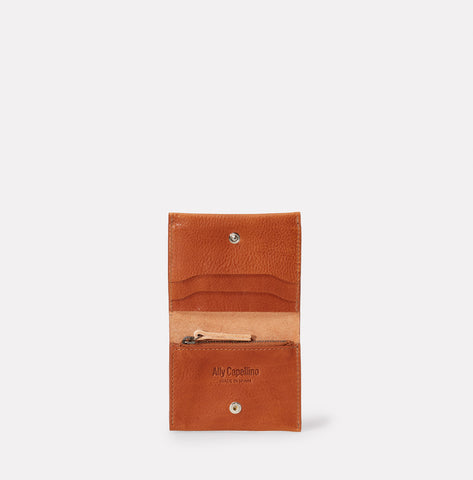 Riley Leather Coin Card Purse in Tan