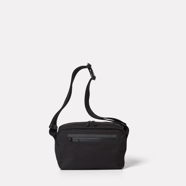 Ally Capellino, Leather, Shoulder bag, bag, East London, Portabello Road, Small Cycle Satchel, cycle bodybag, small commuter, black small satchel, black shoulder bag, water resistant,