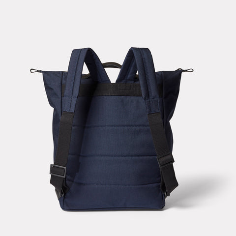 SS19, mens, womens, travel and cycle, nylon, backpack, rucksack, navy, blue, navy backpack, navy rucksack, water resistant, water resistant backpack, reflective, cycle bag, navy travel bag, blue backpack, blue rucksack, blue travel bag,