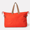 Freddie Waxed Cotton Holdall in Flame Orange
