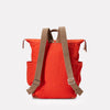 Fin Waxed Cotton Utility Rucksack in Flame Orange