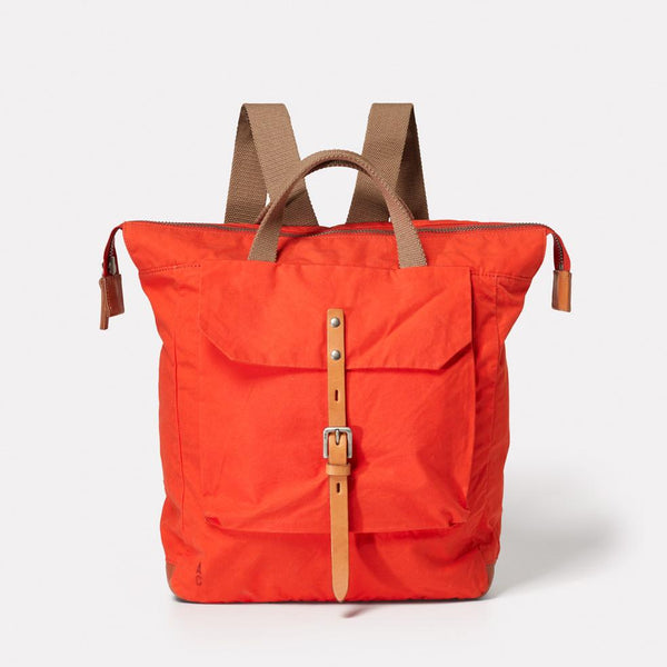 8beea91be7e AC AW18 WEB WAXED COTTON RUCKSACK BACKPACK FRANCES FLAME ORANGE 01. Quick  add. AC AW18 WEB WAXED COTTON RUCKSACK BACKPACK FRANCES FLAME ORANGE 01