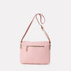 Jeremy Small Waxed Cotton Satchel in Chalky Pink