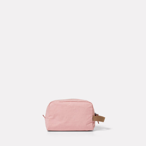 Simon Waxed Cotton Washbag in Chalky Pink