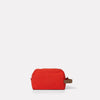 Simon Waxed Cotton Washbag in Flame Orange