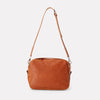 Leila Large Calvert Leather Crossbody Bag in Neutral Tan