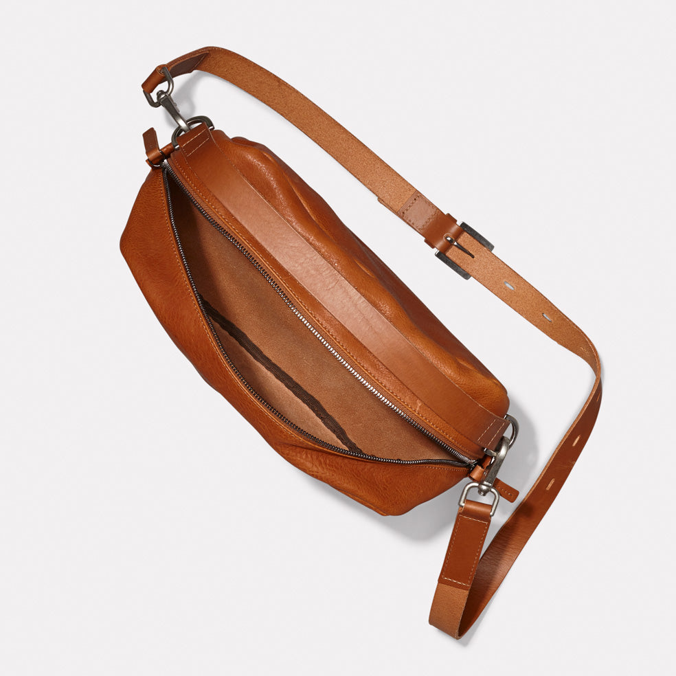 NEW IN  AW18 Leila Large Calvert Leather Crossbody Bag in Tan   Ally ... 85240f48e6