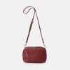 Leila Medium Calvert Leather Crossbody Bag in Plum