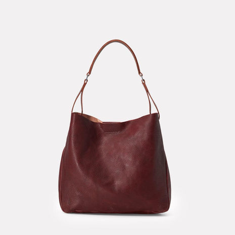 Cleve Calvert Leather Shoulder Bag in Plum