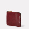 Jan Calvert Leather Purse in Plum