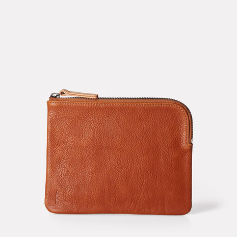 Jan Calvert Leather Purse in Tan