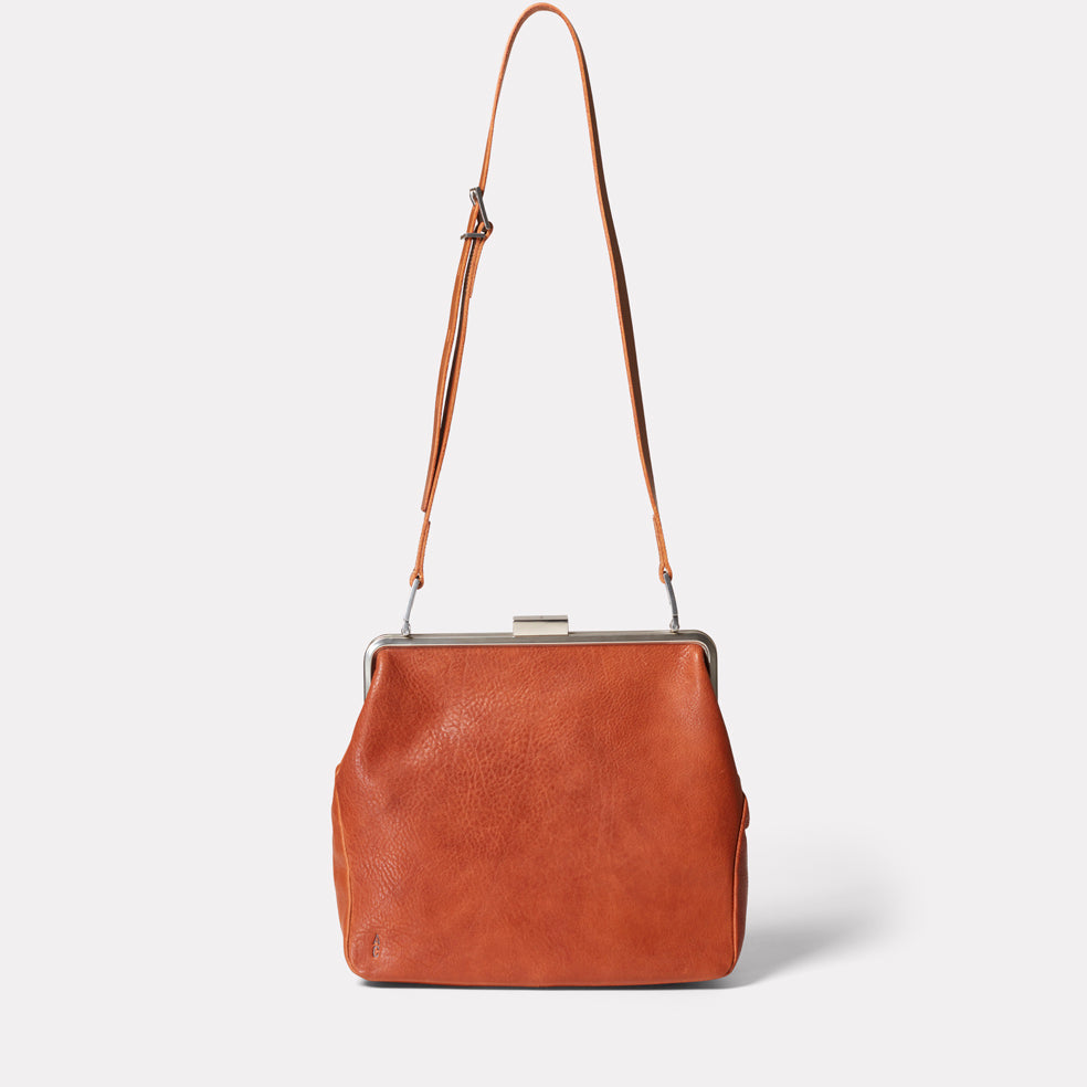 Fox Large Calvert Leather Frame Bag in Tan