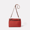 Irenie Large Rochelle Leather Crossbody Bag in Brick Red