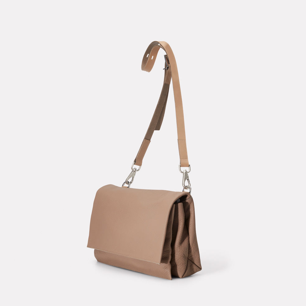 d16570e7d0 AC AW18 WEB WOMENS ROCHELLE FOLD CROSSBODY IRENIE MEDIUM TAUPE 01  Irenie  Large Rochelle Leather Crossbody Bag in Taupe ...