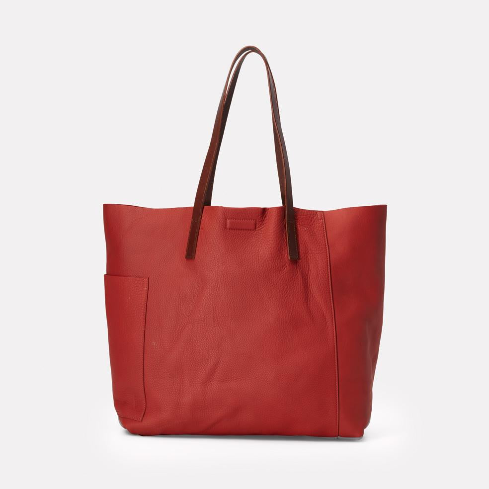 Pomeroy Rochelle Leather Large Tote in Brick Red