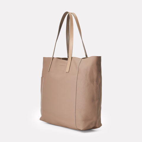 Pomeroy Rochelle Leather Large Tote in Taupe