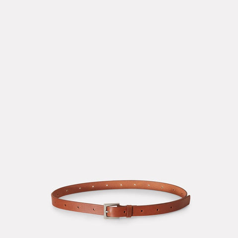 Arty 2cm Leather Belt in Brown for Men and Women