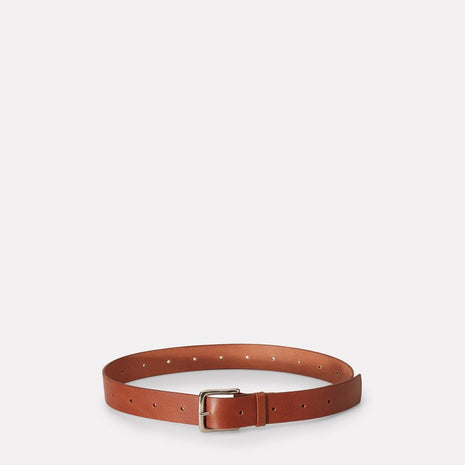 Dennis Wide Leather Belt in Brown