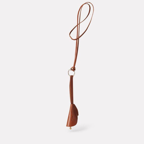 Kamal Stitched Leather Key Ring Lanyard in Brown for Men and Women