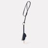 Kamal Stitched Leather Key Ring Lanyard in Navy for Men and Women