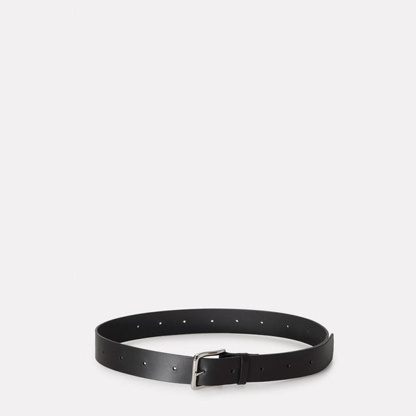 Dennis Wide Leather Belt in Black for Men