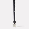 Etty Fully Adjustable Skinny Leather Belt in Black for Women