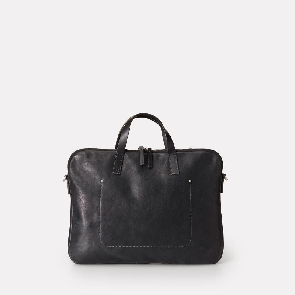 Gaudi Calvert Leather Folio Bag in Black