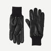 Mens Leather Gloves With Reflective Strips in Black-Accessories-Ally Capellino-Ally Capellino