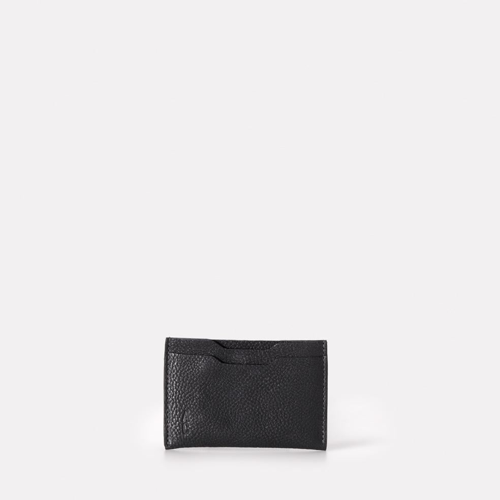 Pete Calvert Leather Card Holder in Black
