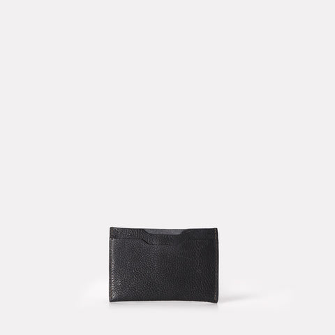 Pete Leather Card Holder in Black