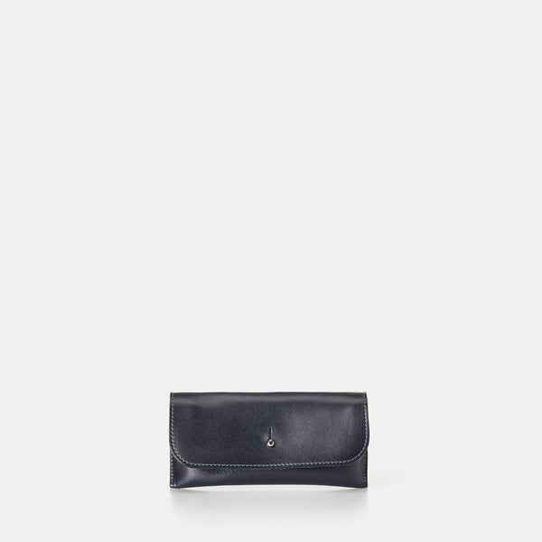 Kit Leather Glasses Case in Navy For Women and Men