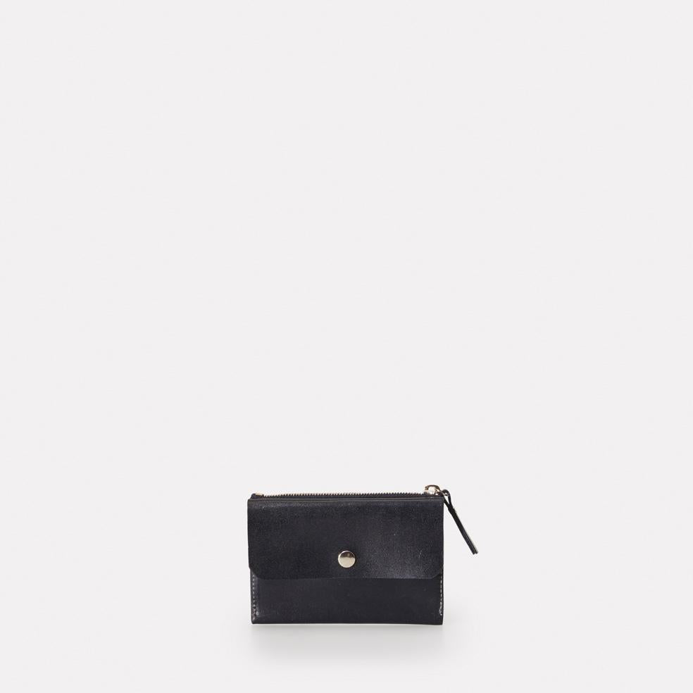 Aubrey Leather Coin and Card Purse in Navy For Women