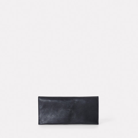 Evie Long Leather Wallet in Black
