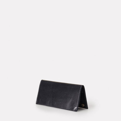 Evie Long Leather Wallet in Navy