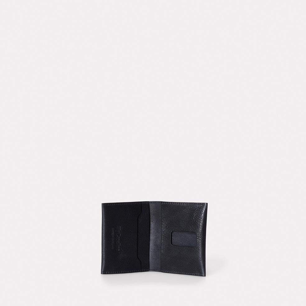 Fletcher Leather Card Holder in Black