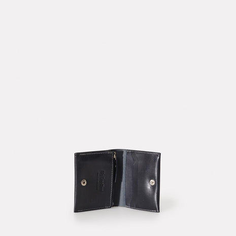 Riley Leather Coin Card Purse in Navy