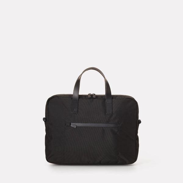 SS19, mens, womens, travel and cycle, briefcase, document case, travel case, travel briefcase, travel document case, cycle briefcase, cycle document case, water resistant, clack, black nylon, black briefcase, black document case, black briefcase, black document case,