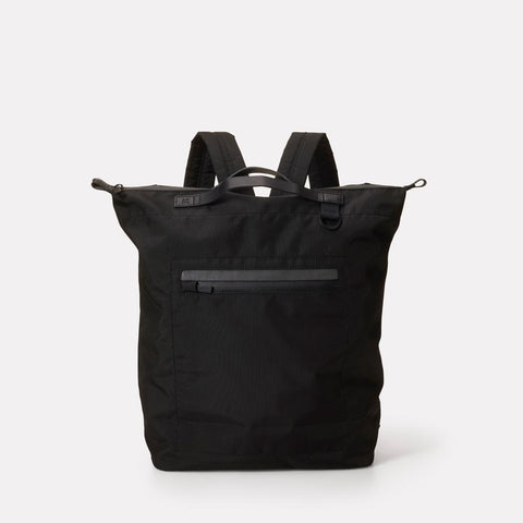 Hoy Travel/Cycle Lightweight Cordura Nylon Backpack in Black for Women and Men