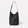 Lloyd Waxed Cotton Bucket Bag in Black-Bucket Bag-Ally Capellino-Ally Capellino