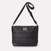 Jeremy Medium Waxed Cotton Satchel In Black-Satchels-Ally Capellino-Ally Capellino